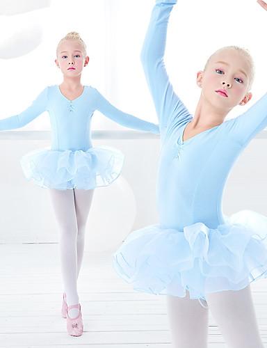 5f2b074d234 Μπαλέτο Φορέματα Κοριτσίστικα Εκπαίδευση / Επίδοση Ελαστίνη / Λίκρα  Κυματοειδές / Διαφορετικά Υφάσματα Μακρυμάνικο Φόρεμα