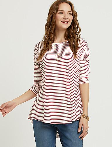 T-shirt Per Donna Essenziale - Moda Città A Strisce Arcobaleno Xl #07071316 Vendendo Bene In Tutto Il Mondo