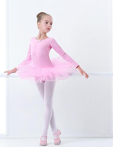 preiswerte Ballettbekleidung-Ballett Kleider Mädchen Training / Leistung Elastan / Lycra Nierenwärmer / Bänder / Wellenmuster Langarm Kleid