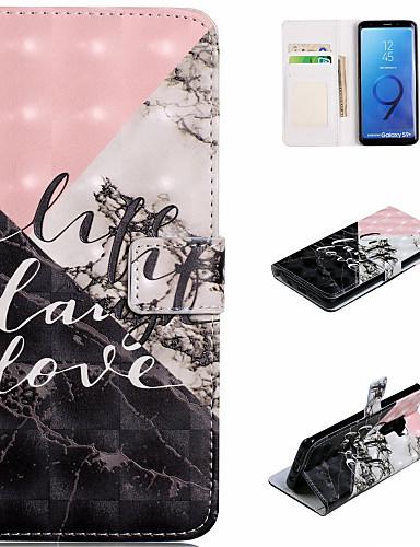 Θήκη Za Samsung Galaxy S9 / S9 Plus / S8 Plus Novčanik / Utor za kartice / sa stalkom Korice Riječ / izreka / Mramor Tvrdo PU koža