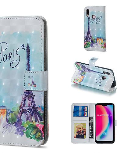 Θήκη Za Huawei Huawei P20 Pro / Huawei P20 lite / P10 Lite Novčanik / Utor za kartice / sa stalkom Korice Eiffelov toranj Tvrdo PU koža
