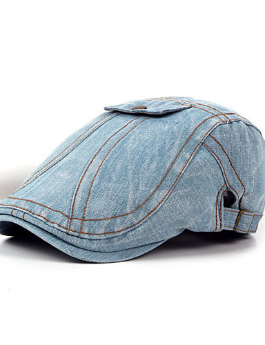 abordables Sombreros de hombres-Sombrero de poliéster unisex - Color sólido. 92375030d1e1