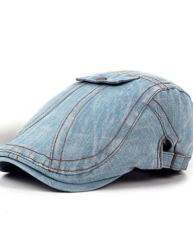 abordables Sombreros de hombres-Sombrero de poliéster unisex - Color sólido. 5f32e38cde2f