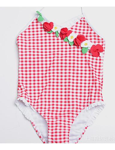 Aggressivo Bambino Da Ragazza Sport Tinta Unita Poliestere Costumi Da Bagno Rosso #07093046 Bianchezza Pura