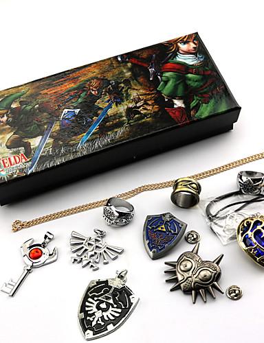 abordables Accesorios de Cosplay de Videojuegos-Joyas Inspirado por The Legend of Zelda Cosplay Videojuegos de anime Accesorios de Cosplay Collare / Broche Gemas Artificiales / Legierung Hombre / Mujer Disfraces de Halloween