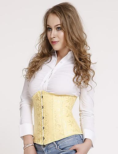 abordables Corsets-Normal Polyester Corset Sexy Couleur Pleine Mariage Boucle Métalique Serre Taille