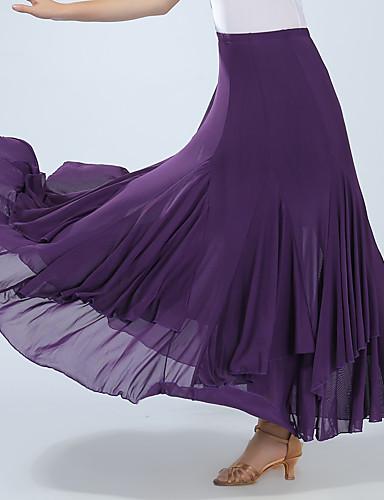voordelige Shall We®-Ballroomdansen Kleding Onderlichaam Dames Opleiding / Prestatie Spandex Ruches Hoog Rokken