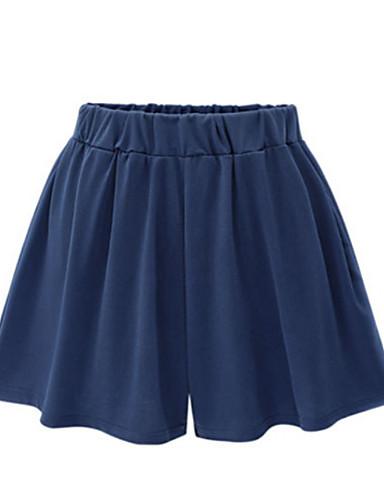 billige Tights til damer-Dame Grunnleggende Store størrelser Daglig Bred Bukseben / Shorts Bukser - Ensfarget Bomull Svart Navyblå XXXXL XXXXXL XXXXXXL