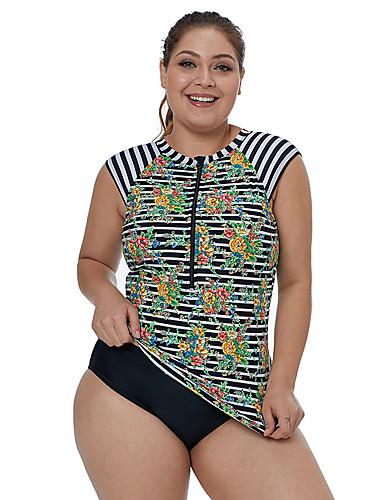 8040f64d33c Women s Basic Rainbow High Waist One-piece Swimwear - Striped XL XXL XXXL  Rainbow   Sexy
