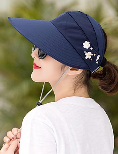 abordables Accessoires Femme-Femme Toile Basique Chapeau de soleil Géométrique Violet Fuchsia Kaki