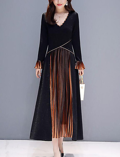 0ab59208bf67 Χαμηλού Κόστους Μακριά Φορέματα-Γυναικεία Μεγάλα Μεγέθη Πάρτι Δουλειά Κομψό  στυλ street Εκλεπτυσμένο Βαμβάκι Σε