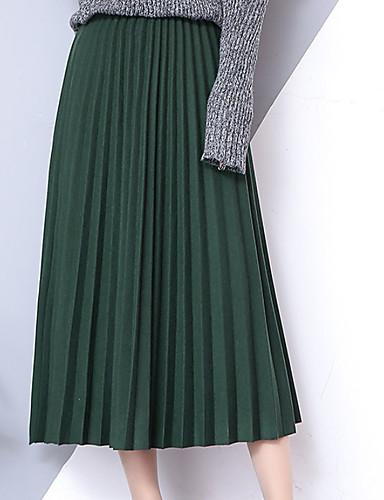 Γυναικεία Γραμμή Α Βασικό Φούστες - Μονόχρωμο f4afea84b28