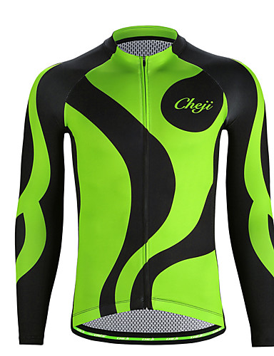 ... Sleeve Cycling Jersey - Green Bike Jersey Top Quick Dry Sports Chinlon  Elastane Mountain Bike MTB Road Bike Cycling Clothing Apparel   Micro- elastic ... ed71dd741