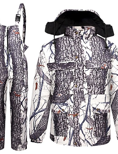 e8fb1cee3e8 Men's Women's Camo Hunting Jacket with Pants Outdoor Fleece Lining Warm  Anti-Wear Clothing Suit Winter Cotton 100% Polyester Hunting, Fishing, ...