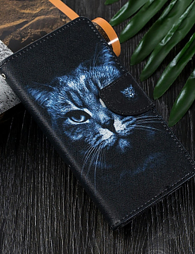 Case สำหรับ Apple iPhone XS / iPhone XR / iPhone XS Max Wallet / Card Holder / with Stand ตัวกระเป๋าเต็ม Cat Hard หนัง PU