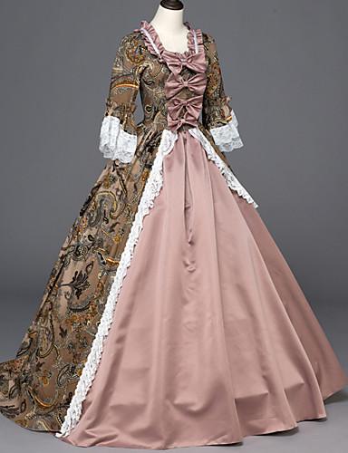 4d5404a8540 Χαμηλού Κόστους Στολές της παλιάς εποχής-Rococo Victorian 18ος αιώνας  Στολές Λολίτα Πανκ Γυναικεία Φορέματα