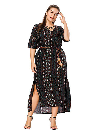 Affidabile Per Donna Largo Swing Vestito A V Maxi #07166357 Per Migliorare La Circolazione Sanguigna