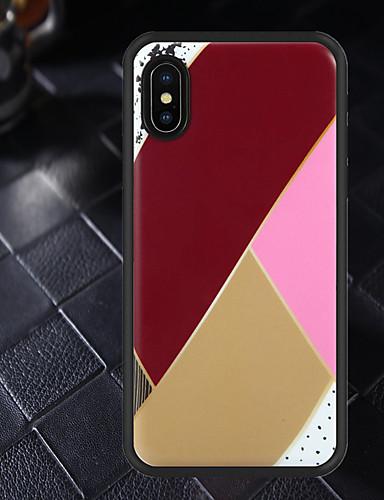 Etui Käyttötarkoitus Apple iPhone XS / iPhone XR / iPhone XS Max Kuvio Takakuori Geometrinen printti Pehmeä TPU