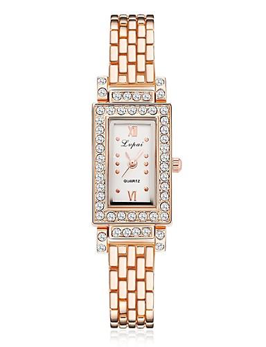 Naisten Quartz Diamond Watch Vapaa-aika Muoti Hopea Ruusukulta PU Leather Kiina Quartz Musta Hopea musta / hopea Arkikello jäljitelmä Diamond 1 kpl Analoginen Yksi vuosi Akun käyttöikä