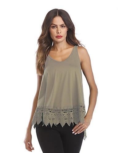 Χαμηλού Κόστους Γυναικείες Μπλούζες-γυναικεία ελαστική μπλούζα της εε   us  μεγέθους - συμπαγής στρογγυλό 868366bc3e3