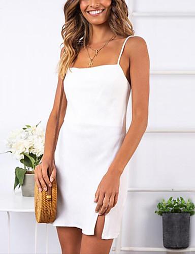 voordelige Maxi-jurken-Dames Bodycon Jurk - Effen Mini