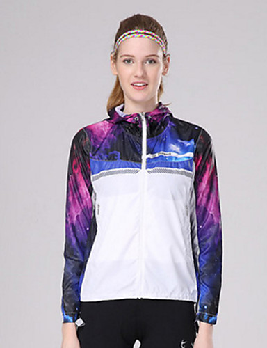 cheap Cycling Clothing-Women's Long Sleeve Cycling Jersey - Navy Jacinth +Gray Dark Purple Gradient Plus Size Bike Top Breathable Sports Eco-friendly Polyester Mountain Bike MTB Road Bike Cycling Clothing Apparel