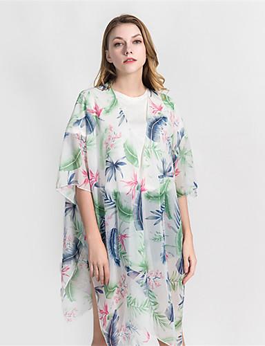 billige Brudesjaler-Halvlange ermer Polyester Bryllup / Fest / aften Sjal til kvinner Med Printer / Blomster Frakker / jakker