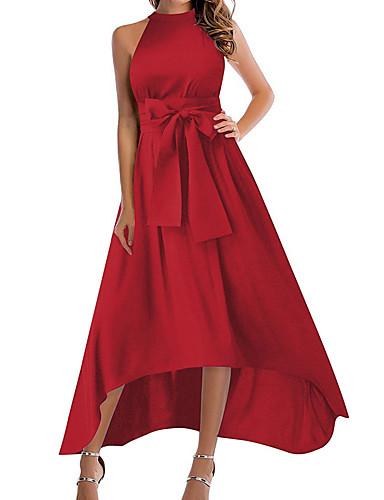 economico Vestiti da donna-Per donna Essenziale Fodero Swing Vestito Tinta  unita Medio 4a456600e46