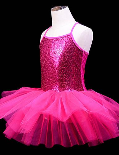 a7b6eacf9 اطفال ملابس الرقص / رقص الباليه الفساتين للفتيات التدريب / أداء بوليستر /  شبكة مفصل منفصل / شىء صغير براق بدون كم فستان