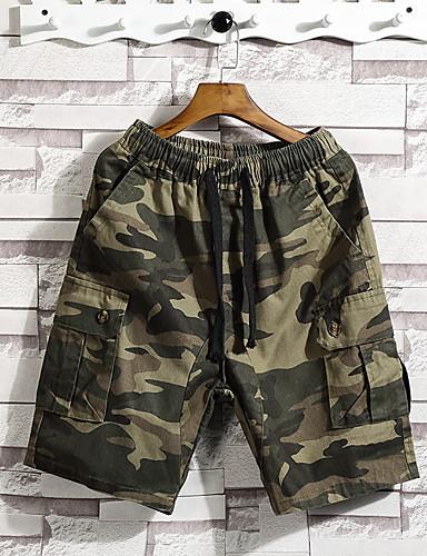 abordables Pantalones de Hombres-Hombre Básico Shorts Pantalones - Un Color Negro