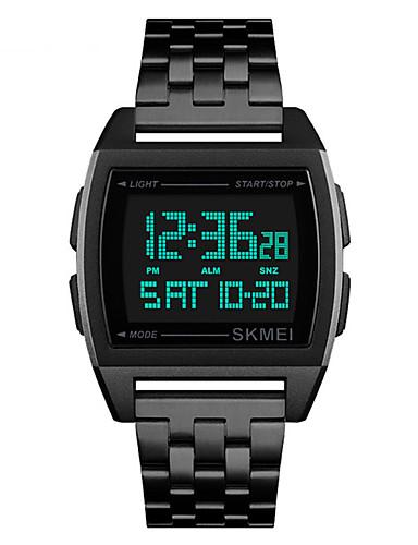 SKMEI Hombre Reloj Digital Digital Acero Inoxidable Negro / Plata / Dorado 30 m Resistente al Agua Calendario Cronómetro Digital Casual Moda - Negro Plata Oro Rosa