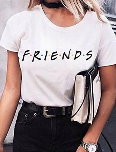 billige Dametopper-T-skjorte Dame - Bokstaver Hvit