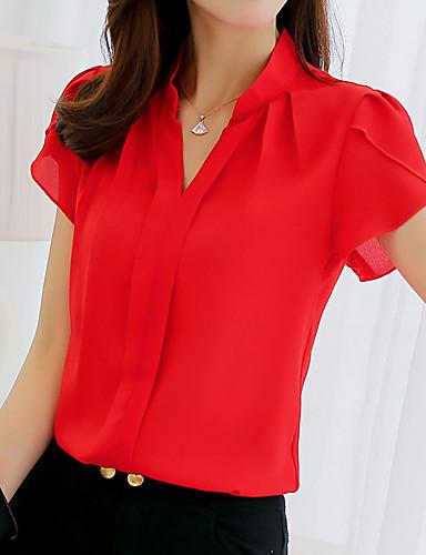 povoljno Ženske majice-Majica Žene Jednobojni Red