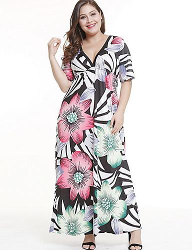 Affidabile Per Donna Elegante Swing Vestito Fantasia Floreale Maxi #07189083 Elaborato Finemente