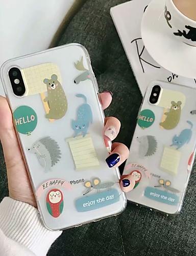 Etui Käyttötarkoitus Apple iPhone XS / iPhone XR / iPhone XS Max Läpinäkyvä Takakuori Piirretty Pehmeä TPU
