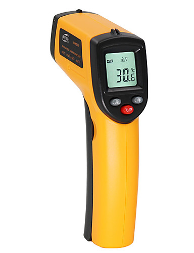 cheap Free Shipping-BENETECH Digital thermometer gun -50~530℃ non contact infrared thermometer temperature gun ir thermometer industrial GM530
