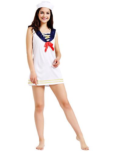 eac9a771126 Marinero Adulto Mujer Vestidos Disfrace de Cosplay Para Poliéster Vestido  Sombrero Mascarada