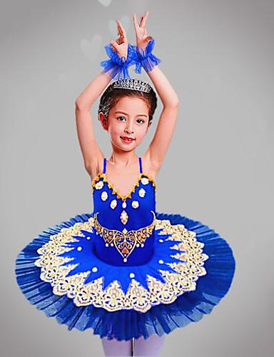 voordelige Shall We®-Kinderdanskleding / Ballet Outfits / Tutus&Rokken Meisjes Opleiding / Prestatie Polyester / Netstof Kralen / Borduurwerk / Combinatie Mouwloos Kleding / Armbanden