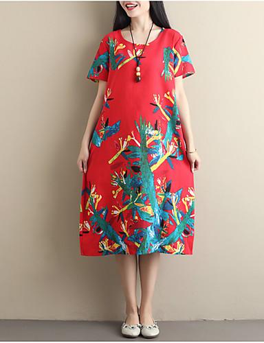 3ae00f4079d3 Γυναικεία Βίντατζ Κινεζικό στυλ Swing Φόρεμα - Φλοράλ