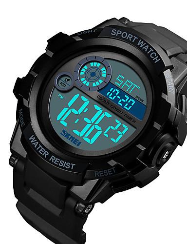 SKMEI Hombre Reloj Digital Digital Cuero Sintético Acolchado Negro / Azul 50 m Resistente al Agua Calendario Cronómetro Digital Clásico Moda - Rojo Verde Azul
