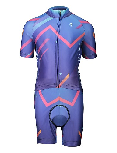 cheap Cycling Clothing-ILPALADINO Boys' Girls' Short Sleeve Cycling Jersey with Shorts - Violet Bike Clothing Suit Breathable Sweat-wicking Sports Lycra Fashion Mountain Bike MTB Road Bike Cycling Clothing Apparel / Kid's