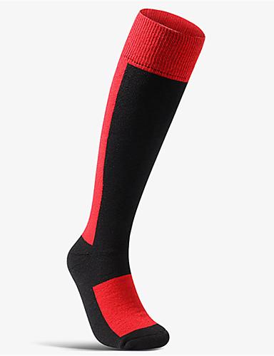 cheap Cycling Clothing-Men's Women's Cycling Socks Compression Socks Thermal / Warm Breathable Anti-Slip Soft Sweat-wicking Dark Grey Red Blue Wool Elastane Winter Road Bike Mountain Bike MTB Basketball Solid Colored