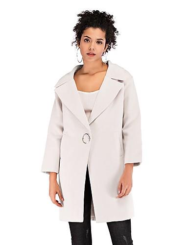 Kadın's Suni Kürk Gömlek Yaka Ceket Suits Solid