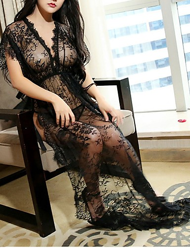 32f164c35ca Women s Babydoll   Slips Nightwear - Lace   Split Geometric 7209493 ...