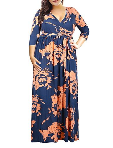 voordelige Grote maten jurken-dames maxi slim een lijn jurk paars wit rood xxxl xxxxl xxxxxl xxxxxxl