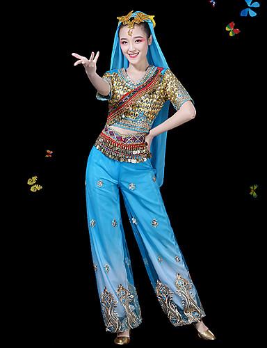 halpa Etniset & Cultural Puvut-Intialainen tyttö bollywood Aikuisten Naisten Aasialainen Paljetti churidar Salwar Suit saree Käyttötarkoitus Suoritus Sifonki Toppi Hame Päähine