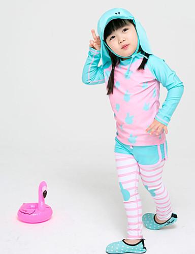 baratos Roupas de Mergulho & Camisas de Proteção-JIAAO Para Meninas Segunda-pele para Mergulho Roupas de Mergulho Térmico / Quente Manga Longa Natação Sólido Outono Verão / Elasticidade Alta / Crianças
