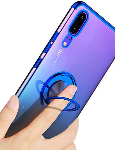 Etui Käyttötarkoitus Huawei Huawei P20 / Huawei P20 Pro / Huawei P20 lite Pinnoitus / Sormuksen pidike / Läpinäkyvä Takakuori Yhtenäinen Pehmeä TPU