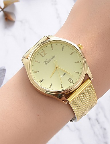 Women's Quartz Watches Casual Fashion Gold Silicone Chinese Quartz Gold White New Design Casual Watch 1 pc Analog One Year Battery Life
