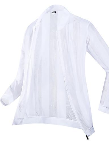 voordelige Herenjacks & jassen-Heren Dagelijks Zomer Grote maten Normaal Jack, Effen Opstaand Lange mouw Polyester Wit / Zwart
